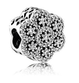 Charm 925 - Silver Crystallized Floral