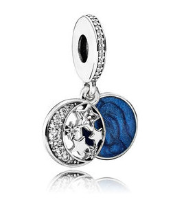 Charm 925 - Silver Dangle Vintage Night Sky