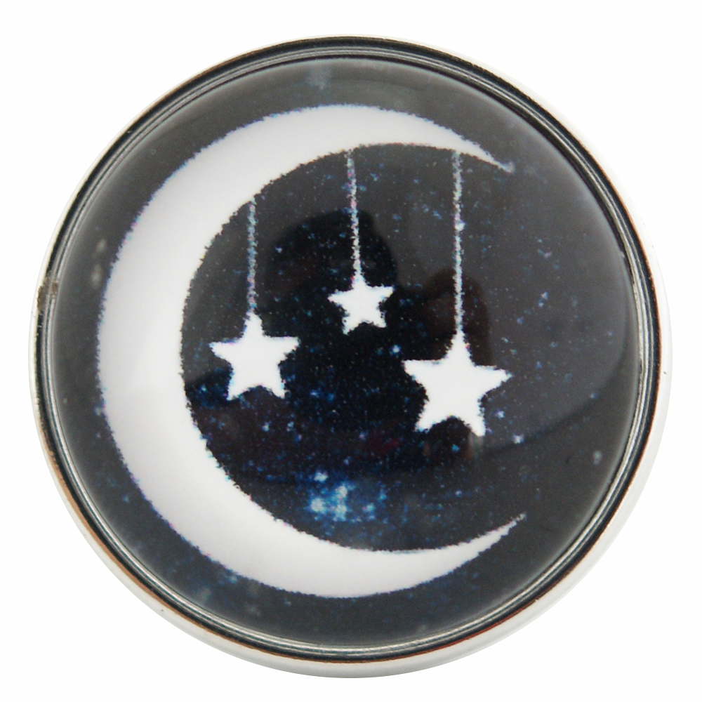 Snap Jewelry Glass - Moon & Stars