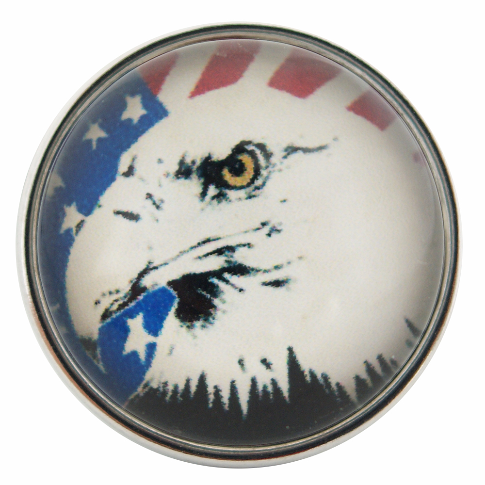 Snap Glass Jewelry - USA Eagle