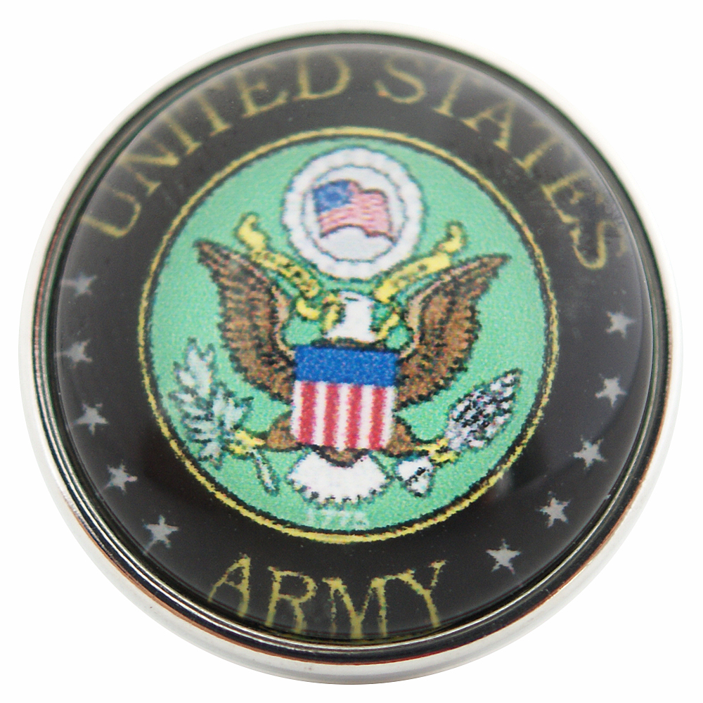 Snap Glass Jewelry - Army USA