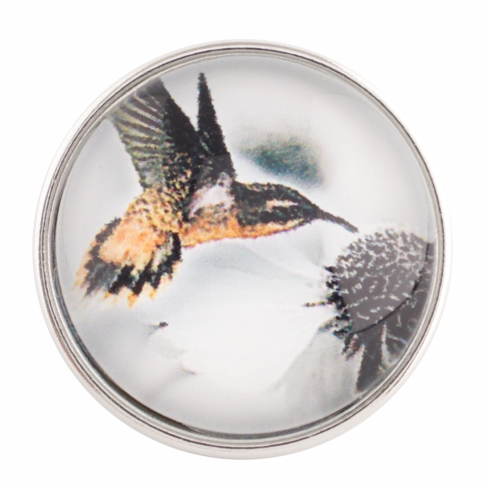 Snap Glass Jewelry - Hummingbird