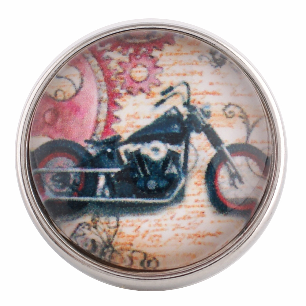 Snap Glass Jewelry - Motorcycle