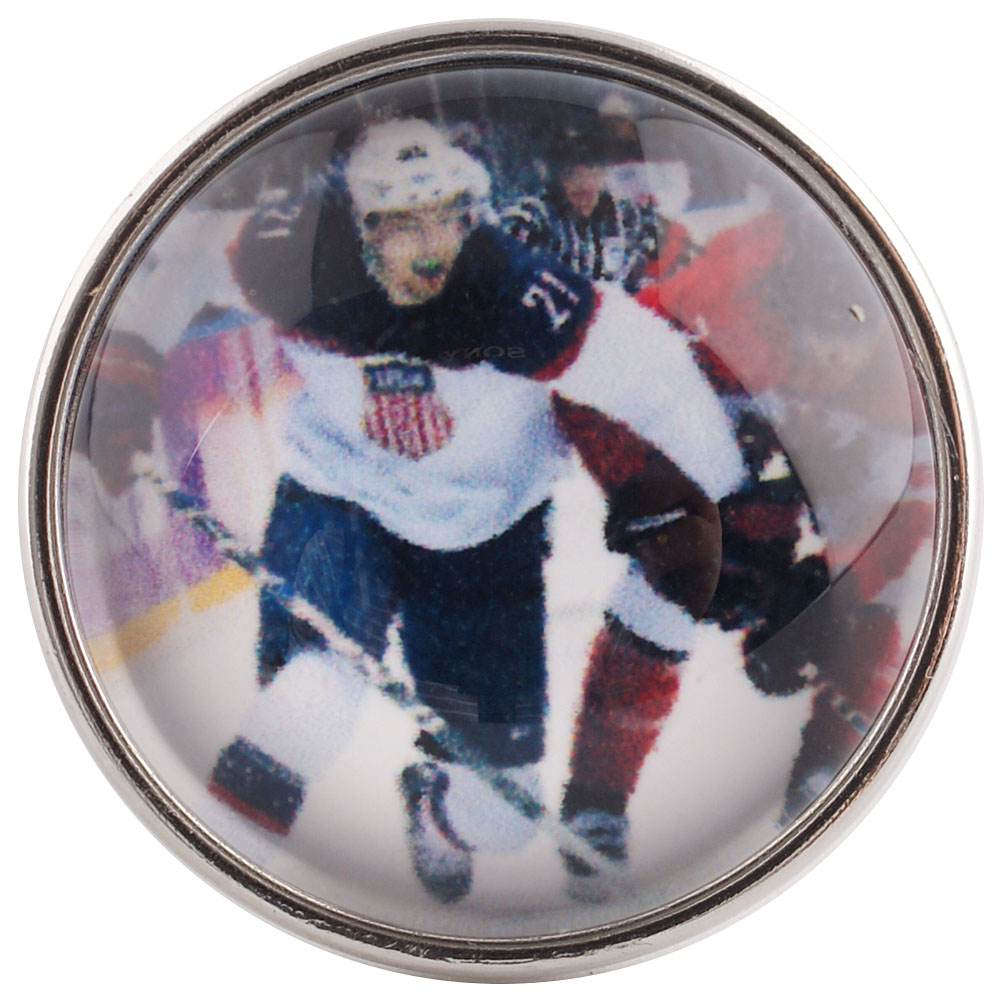 Snap Glass Jewelry - Hockey Sports
