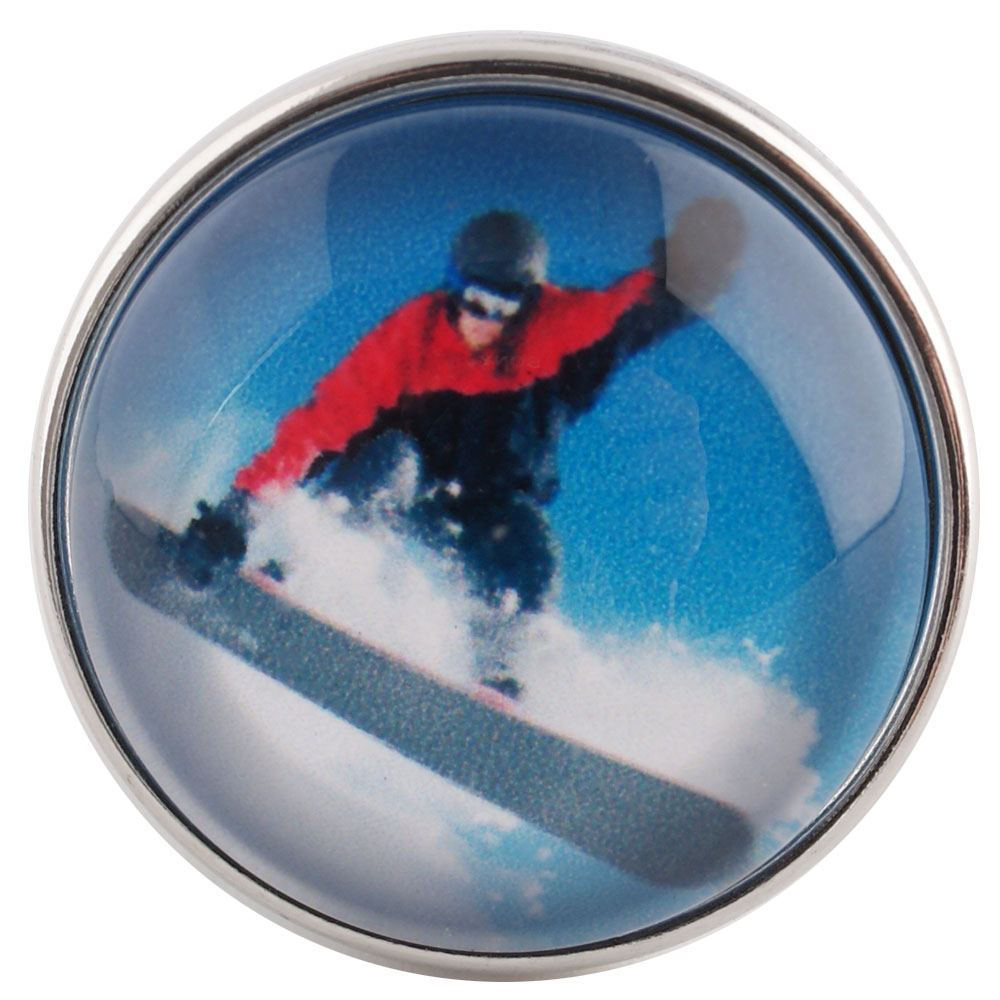 Snap Glass Jewelry - Sports Snowboarding