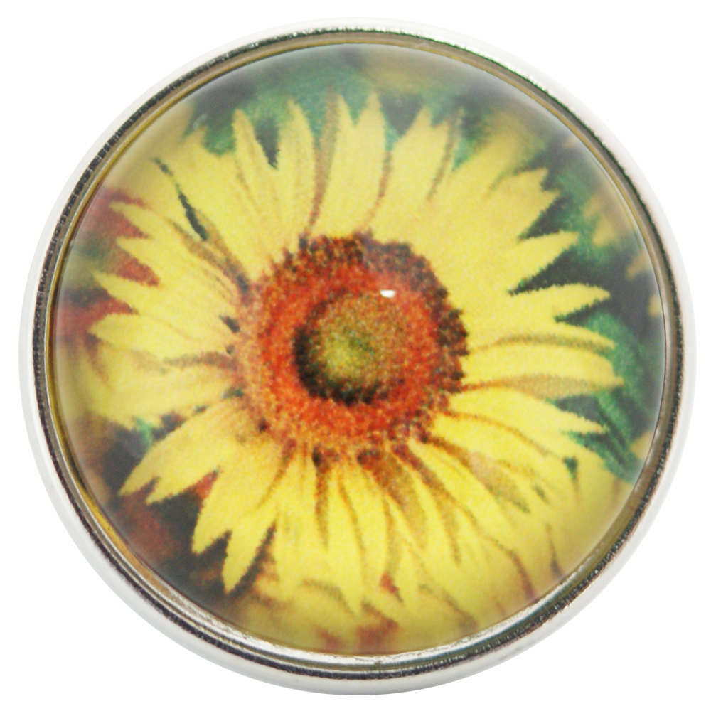 Snap Glass Jewelry - Flower Sunflower