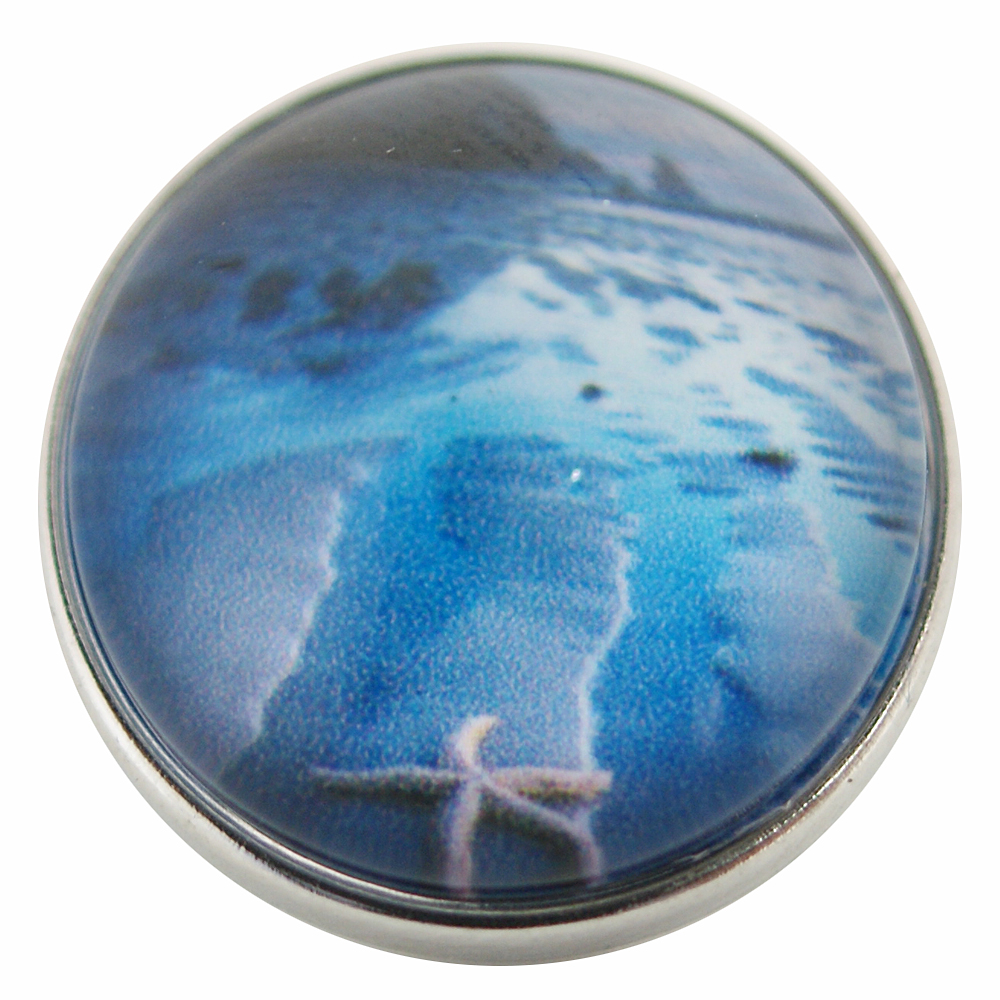 Snap Glass Jewelry - Beach