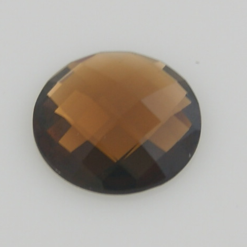 32mm Coin - Faceted Crystal Brown