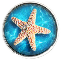 Snap Glass Jewelry Star Fish