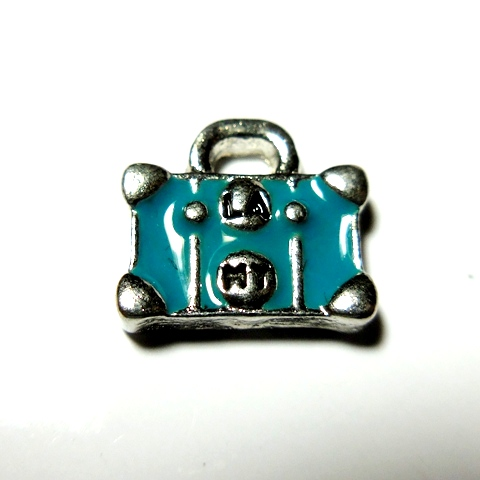 Memory Locket Charms Travel Suitcase