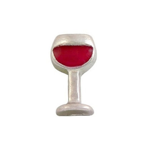 Memory Locket Charms Wine Drink Red