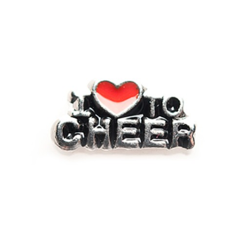 Memory Locket Charms I Love to Cheer