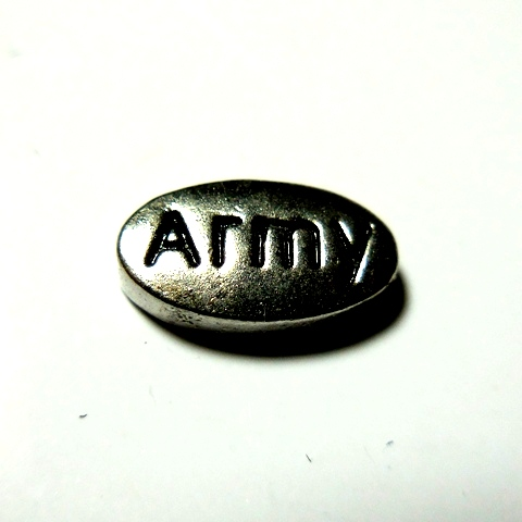 Memory Locket Charms Military Army