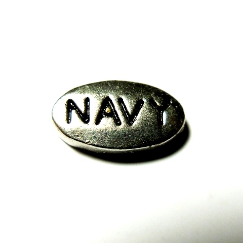 Memory Locket Charms Military Navy