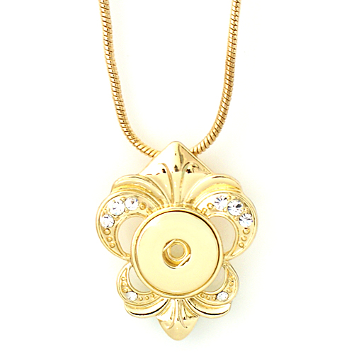 "Snap Jewelry Gold Necklace & Gold Pendant 18"" + Extender"