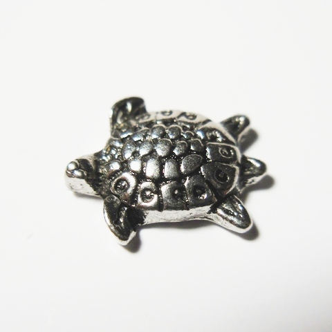 Memory Locket Charms Turtle Silver