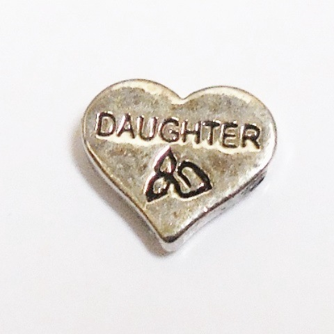 Memory Locket Charms Heart Daughter Silver