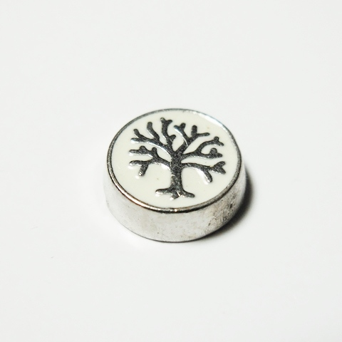Memory Locket Charms Tree of Life White