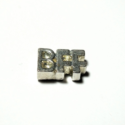 Memory Locket Charms Letters BFF