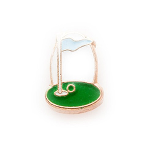 Memory Locket Charms Golf Hole in One