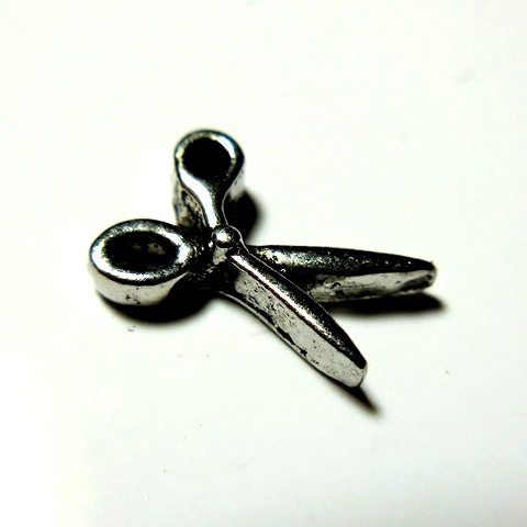 Memory Locket Charms Scissors Silver
