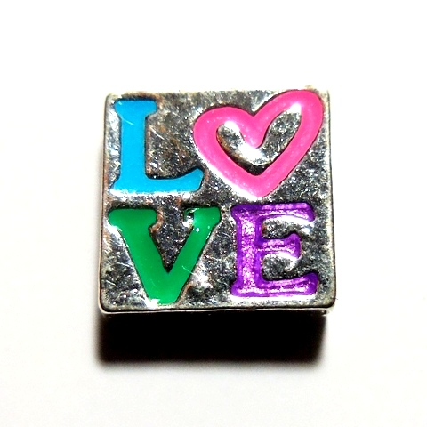 Memory Locket Charms Love Square