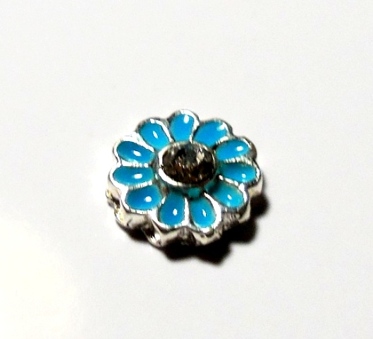 Memory Locket Charms Flower Blue