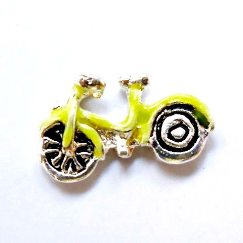 Memory Locket Charms Bicycle