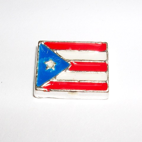 Memory Locket Charms Flag Puerto Rican