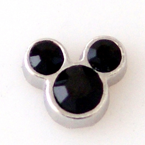 Memory Locket Charms Mouse Ears Black