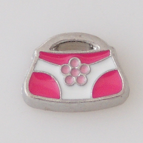 Memory Locket Charms Purse Pink