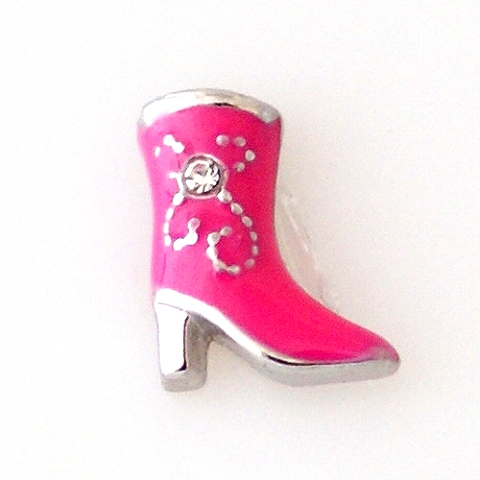 Memory Locket Charms Boot Pink