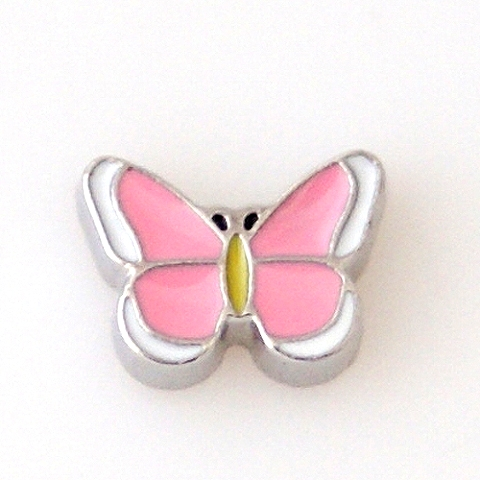 Memory Locket Charms Butterfly Pink