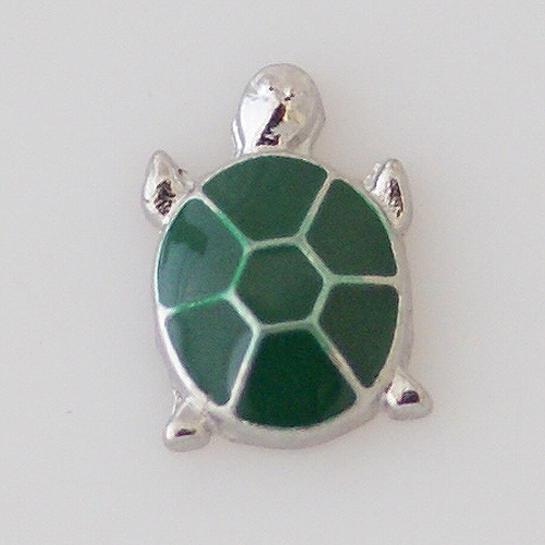 Memory Locket Charms Turtle Green