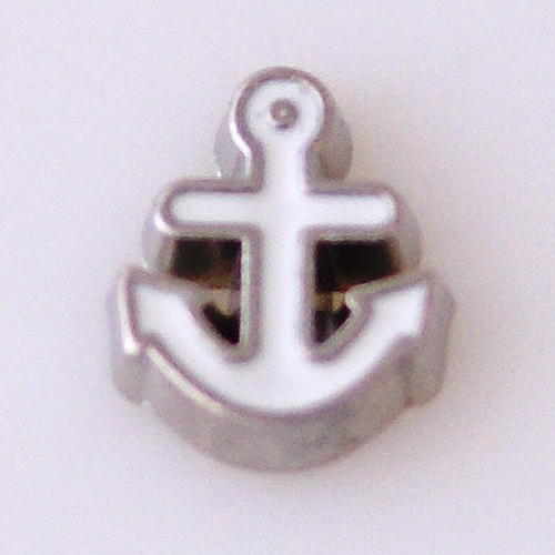 Memory Locket Charms Anchor White