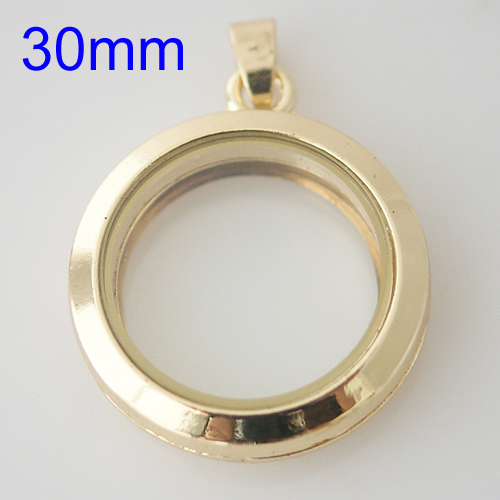 Large Fashion Locket - 30mm Gold