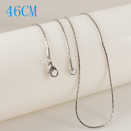 Stainless Steel Diamond Box Chain - 18""