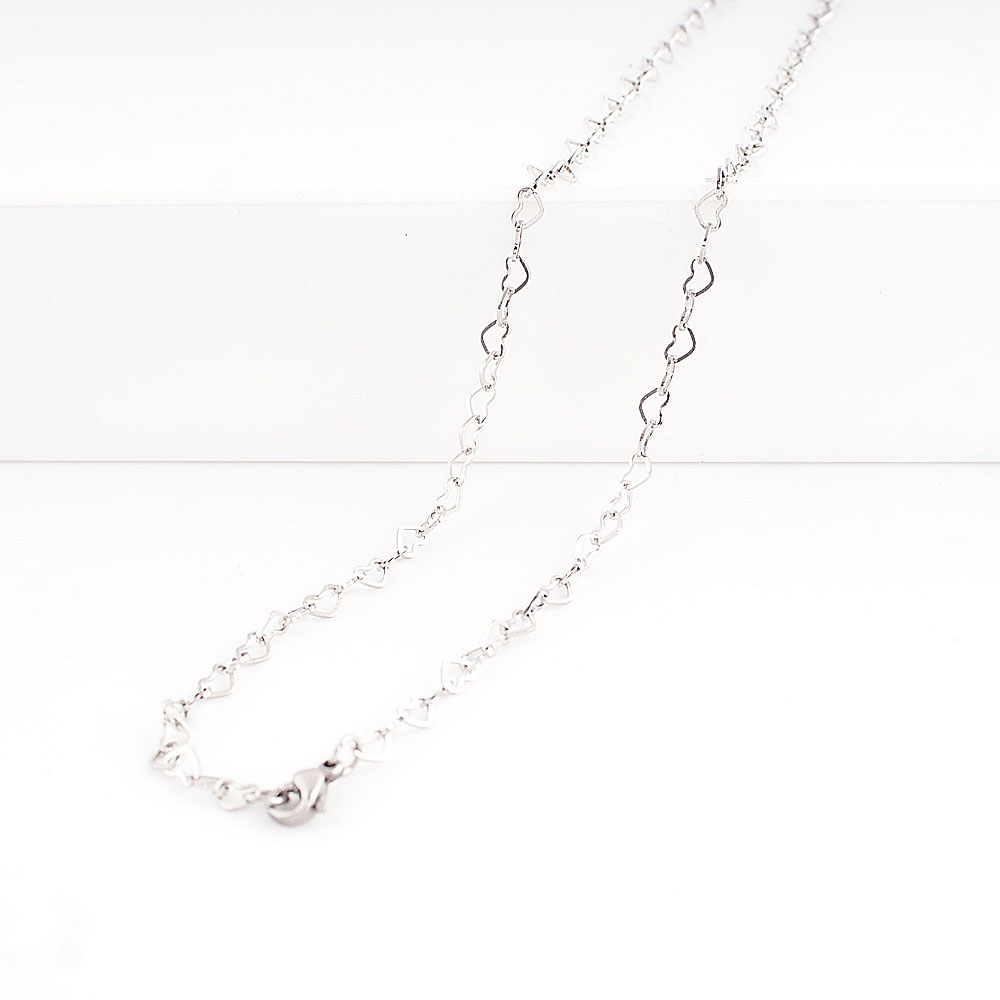 Stainless Steel Heart on Heart Chain
