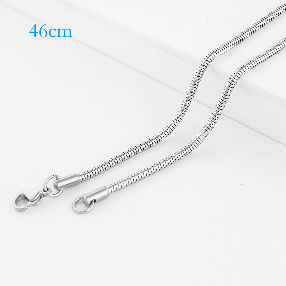 "Stainless Steel Snake Chain - 18"" Silver"