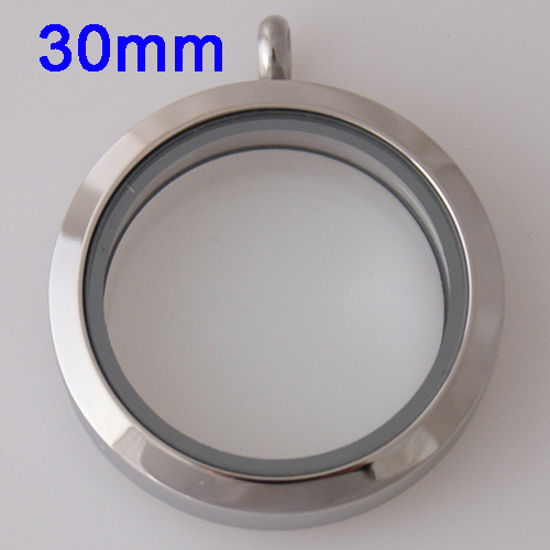 Large Stainless Steel Locket - 30MM - Silver