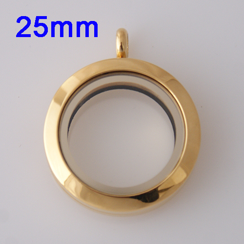 Medium Stainless Steel Locket - 25MM - Gold