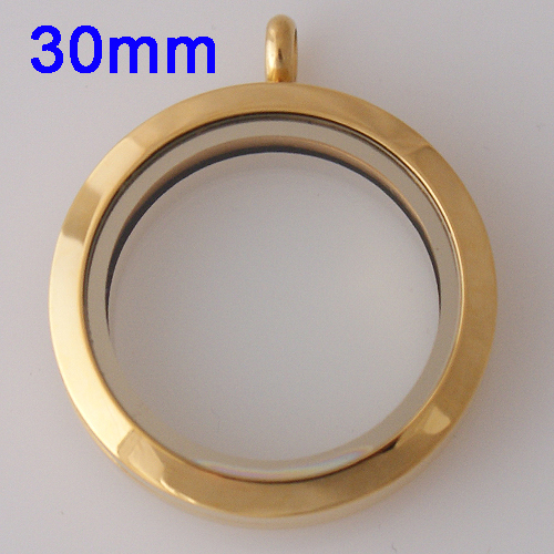 Large Stainless Steel Locket - 30MM - Gold