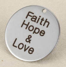 Quotes Stainless Pendant - Faith, Hope & Love