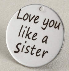 Quotes Stainless Pendant - Love you like a sister