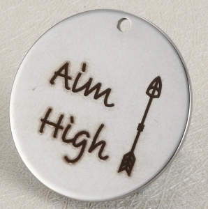 Quotes Stainless Steel Pendant - Aim High