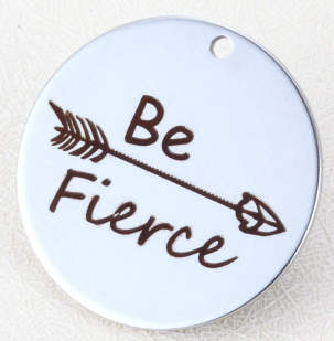 Quotes Stainless Steel Pendant - Be Fierce