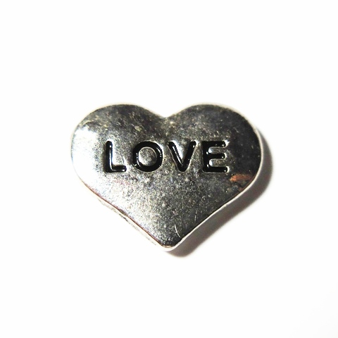 Memory Locket Charms Heart Love Silver