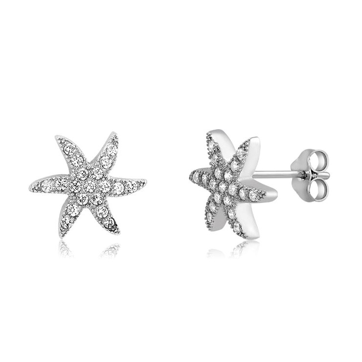 925 - Sterling - StarFish Stud Earrings