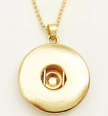 Snap Jewelry Pendant & Necklace - Rose Gold