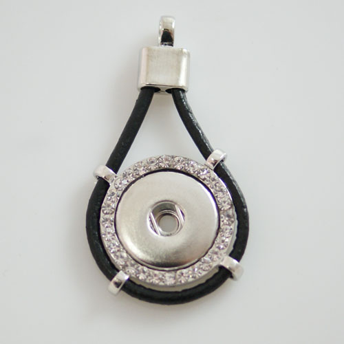 Snap Jewelry Pendant Bling & Leather